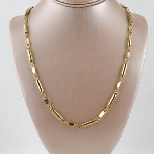 J. Crew Necklace Gold Tone Link Bar Chain Goldtone